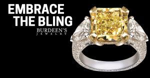 """Embrace the Bling"" Yellow Ring Ad"