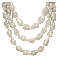 White Baroque Freshwater Pearl 52