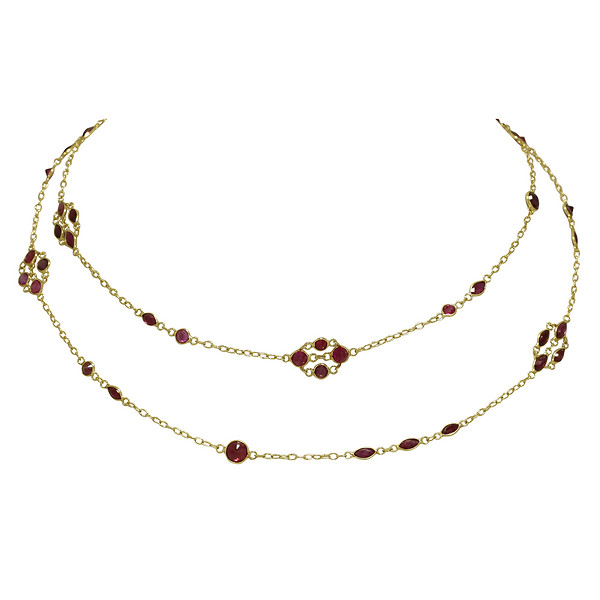18k Yellow Gold Ruby Lattice 26