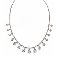 Pear Droplet Diamond Necklace