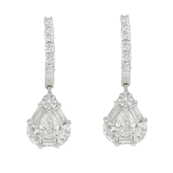 hsn absolute black drop cz earrings white pear products and d