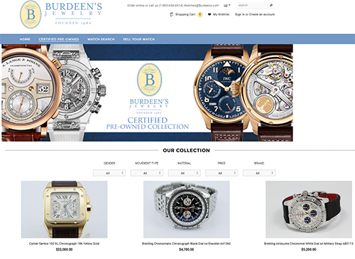 Burdeen's Jewelry Preowned Site