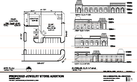 Burdeen's Jewelry Addition Plans