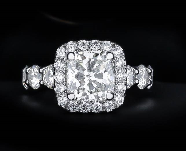 3.06 Carat Center Store Cushion Cut